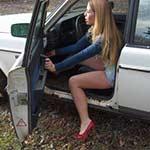 Cassandra's Volvo Got Stuck in the Yard