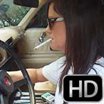 Damara Cranks Up & Drives the '77 Z/28 in Flip Flops