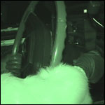 Hana Parking the Caddy NightVision Boots & Fur