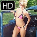 Kimberly Heart Cranking the Bug in a Bikini, 'Spring Fever'