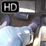 Scarlet Drives & Revs the Camaro in Gray Mocassins