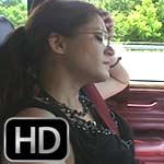 Vivian Ireene Pierce Broken Down in the Jeep in Business Suit