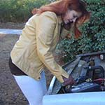 Vivian's Volvo Car Troubles On Way to Lunch, 1 of 2