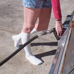 Kristen Drives & Revs the Coronet in Socks – #200