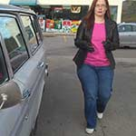 Scarlet Driving the Volvo in Keds – #428