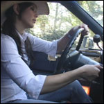 Hana 'Country Gal' Cranking the Cadillac