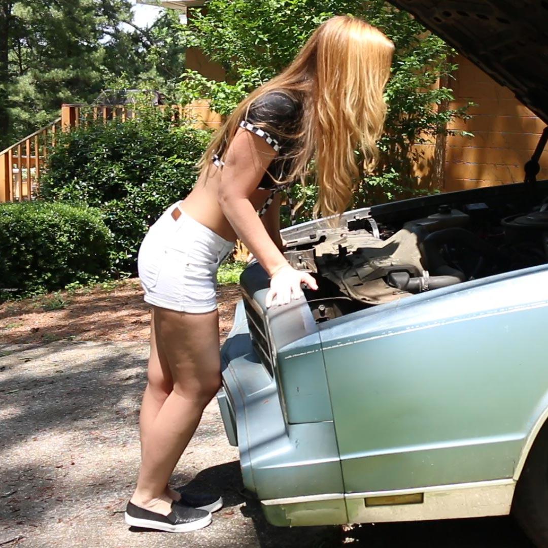 Cassandra Cranking the Monte Carlo in Black Vans