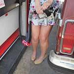 Cassandra & ShisH Make a Gas Run in Tan Pumps