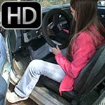 Kristen Starts & Drives the Monte in Jeans & Sneakers