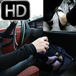 Vivian Ireene Pierce Rough Driving the Volvo in Ballet Flats- #575