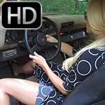 Brooke Cranking Up the Coronet & Camaro in Flip Flops