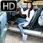 Star Revving the Monte Carlo Hard in Blue Sneakers