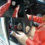 Wonder Vivian Cranking & Driving the Bug