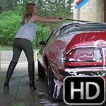 Jamie Lynn Cranks & Drives the Camaro to the Car Wash