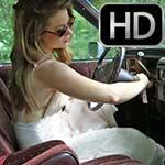 Rebecca Cranks & Revs the Cadillac White Dress & Boots, 2 of 3
