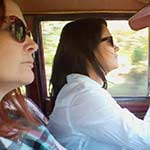 Damara Driving the Jeep & Scarlet Cranking the Volvo