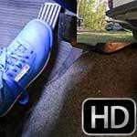 Jane Domino Revving the Volvo in Blue Sneakers – #711