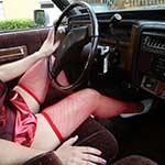 Cassandra Flooring the Caddy in Racer Costume – #736