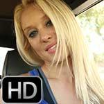 Brooke Cranking the Renault in Black Pumps – #773