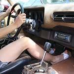 Brooke Revving the Camaro in Platform Sandals – #728
