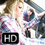 Cherry Morgan & Dakota Charms Converse Cranking the Renault
