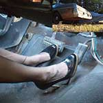 Damara Revving the Coronet in Hose & Pumps – #655