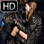 Prue Starts & Revs Cars in Combat Boots & Gloves, 2 of 2