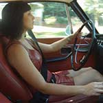 Hana Driving the Volvo in Ankle Strap Pumps – #524a
