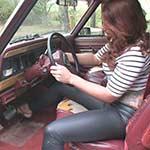 Dirty Diana Cranking the Jeep in Strappy Stilettos – #371