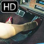 Jane Domino Cranks & Drives the 1980 Cadillac in Peep Toes