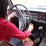 Damara Cranks & Kills Battery in the Volvo in Pumps