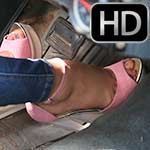 Cherry & Dakota Pump the Monte in Awkward Heels, 1 of 2