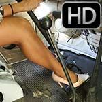 Jane Domino Sweaty Cranking the Bus in Pumps – #754