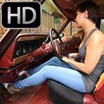 Jane Domino Cranking the Jeep in Platform Sandals – #675