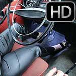 Vivian Ireene Pierce Driving the Volvo in Black Slippers