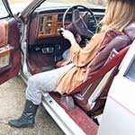 Rebecca Starts Up the Caddy, Jeep & Z28 in Boots & Sweats