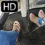 Jane & Vivian Fire Up & Lightly Rev the Bus in Heels