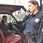 Madalynn Gives Mall Cop Vivian a Ride to Squad Car, 1 of 2
