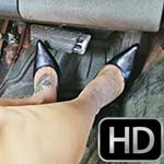 Jane Domino Tan Socks & Pumps in the Camaro – #923 xtra