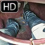 Jane Domino Cranking the Caddy in Top Gun Tshirt (Self-Filmed)