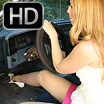 Cassandra Cranking the Monte Carlo in Sheer Hose & Peep Toes