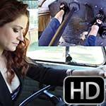 Vivian Ireene Pierce Driving Bus Solo in Shiny Peep Toe Heels