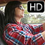 Damara Leaving the Car Wash in the Z28 in Black Vans