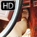 Karolina Von Cranks, Revs & Drives the Old Jeep