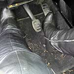 Cassandra Cranks & Revs the Renault in Thigh High Boots