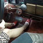 Mandie Cranks & Drives the Jeep in Red Stilettos w/Scarlet