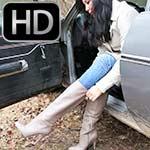 Hana Cranks Up the Coronet in New Nine West Boots