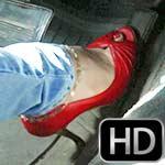 Vivian Ireene Pierce Red Peep Toe Tease in the Bug, 1 of 4