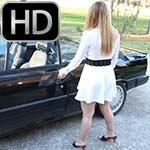 Cassandra & Cheyenne Cranking Renault in Heeled Sandals