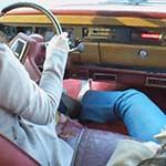Mari Drives the Jeep with Big Sis Riding Shotgun